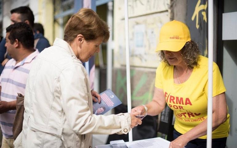 Juan Castro comienza recolección de firmas para candidatura parlamentaria
